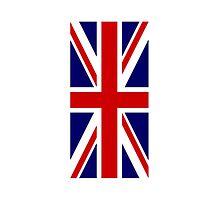 British Union Jack Flag, 1;2 UK, United Kingdom, Pure & simple  by TOM HILL - Designer