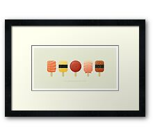The Creamsicles of Nigiri Framed Print