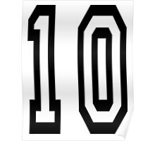 TEAM SPORTS NUMBER, 10, TEN, TENTH, Competition Poster