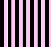 Stripes (Parallel Lines) - Black Pink by sitnica
