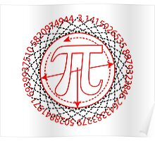 Pi  Sign Drawing Poster