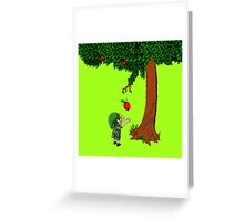 Cute Young Link Zelda With An Apple tree Greeting Card