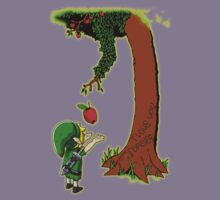 Cute Young Link Zelda With An Apple tree Kids Clothes