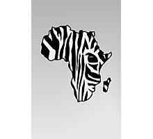 Zebra striped Africa Photographic Print