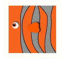 Orange ornamental fish cartoons Art Print