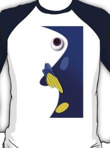 Blue ornamental fish cartoons T-Shirt