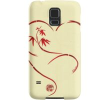 FOREVER YOURS,  Sumi-e Enso Ink Brush Pen Heart Painting Samsung Galaxy Case/Skin