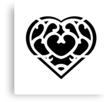 Zelda Skyward Sword Heart (black) Canvas Print