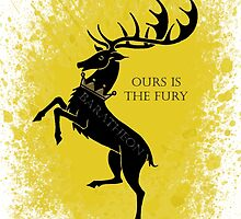 house baratheon, stag again by Little-Creator