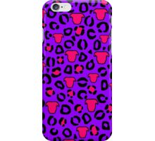Leopard Pit Bull Print Purple iPhone Case/Skin