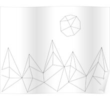 Geometric Mountains #2 Poster