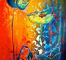 The Poppy Journals...Blue and Red by © Janis Zroback