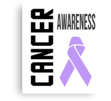 Cancer Awareness Ribbon (all cancers) Canvas Print