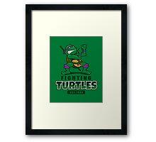 Fighting Turtles - Donatello Framed Print
