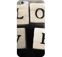 LOVE Wooden Letter Blocks Art  iPhone Case/Skin