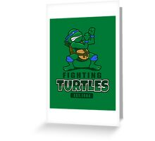 Fighting Turtles - Leonardo Greeting Card