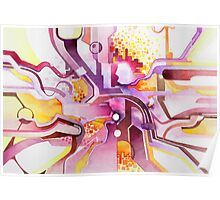 Sunberry - Abstract Watercolor Painting Poster
