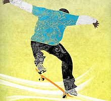 Skateboard 3 by Janet Carlson