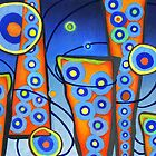 City Lights Pop Surrealism Abstract, Alma Lee by Alma Lee