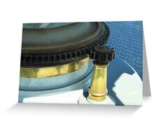 Lighthouse Lens Gears Greeting Card