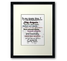 Gamer Pride Framed Print