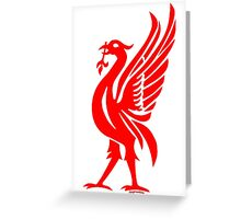 Liverpool Liver Bird Red  Greeting Card