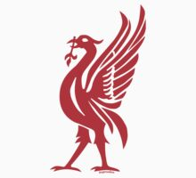 Liverpool Liver Bird Red  T-Shirt