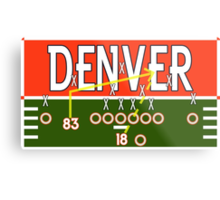 Denver Touchdown Metal Print