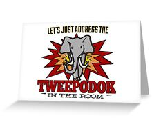 Big Bang Theory Inspired - Amy Farrah Fowler's Language - Tweepodok - Elephant - Elephant in the Room - TBBT Greeting Card