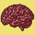 pixelated brain by masterizer