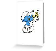 Harmony Smurf Greeting Card