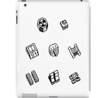 Nether Earth robot parts without title iPad Case/Skin