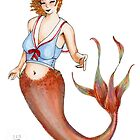 Sailor Mermaid Pin Up by Amy-Elyse Neer