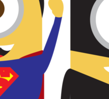 Man Of Steel and The Dark Knight Minions Sticker