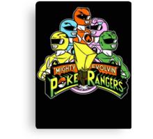 Poke Rangers Canvas Print