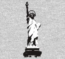 Lady Liberty with DJ Headphone by theshirtshops