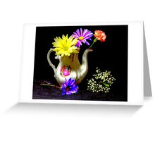 Another pitcher of flowers Greeting Card