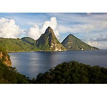 Pitons Bay Photographic Print