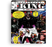 """Code Name: King""  - Comic Book Promo Poster  Canvas Print"