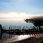 Port Augusta - Old Barge and Foggy Morning by Georgie Sharp