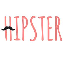 Hipster mustache coral by beakraus