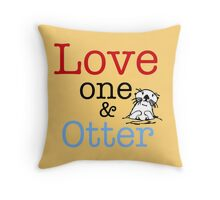 Love One & Otter Throw Pillow