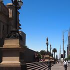 Outside Parliament House, Melbourne, Vic Aust by Margaret Morgan (Watkins)
