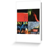 Radiohead Pop Art 2 Greeting Card