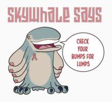 Skywhale Pinkribbon by TheNakedPirate