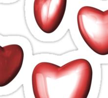 Unbreakable hearts red Sticker