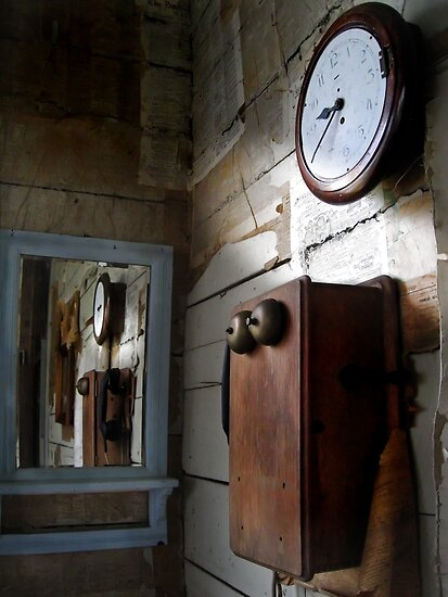 The Place Where A Mirror Found Joy In Reflecting A Phone's Uselessness, And A Time That Had Given Up On Them Both by Peter Kurdulija