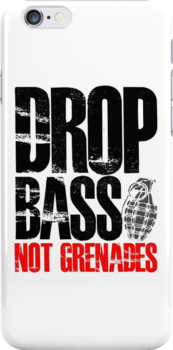 Drop Bass Not Grenades (black/red) by DropBass