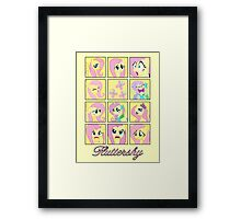 Faces of Fluttershy Framed Print