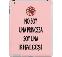 No soy princesa iPad Case/Skin